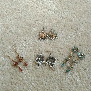Lot of anthropologie & FP boho chic earrings